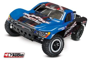 TRX58034-2 Traxxas Slash With On Board Audio And ID Battery RTR XL-5 Brushed Blue Traxxas Racing